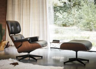 2401010 AD Lounge Chair Ottoman Mahogany LTR Eames House Bird Walnut v2
